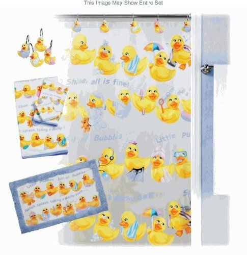 Creative Bath Squeaky Clean Rubber Duck Bath Accessories Bath Mat Null