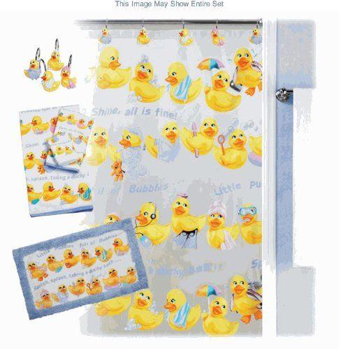 Creative bath squeaky clean rubber duck bath accessories for Duck bathroom accessories