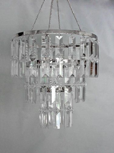 10 5 Wide 3 Tiered Faux Crystal Chandelier By Balsacircle Http Www Amazon Com Dp B000zmek Acrylic Chandelier Crystal Chandelier Beaded Chandelier
