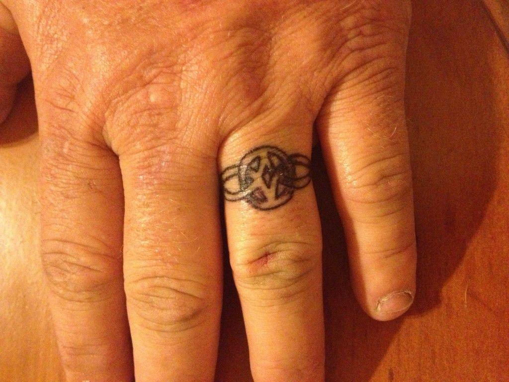 Pin Wedding Band Tattoo Rings On Pinterest