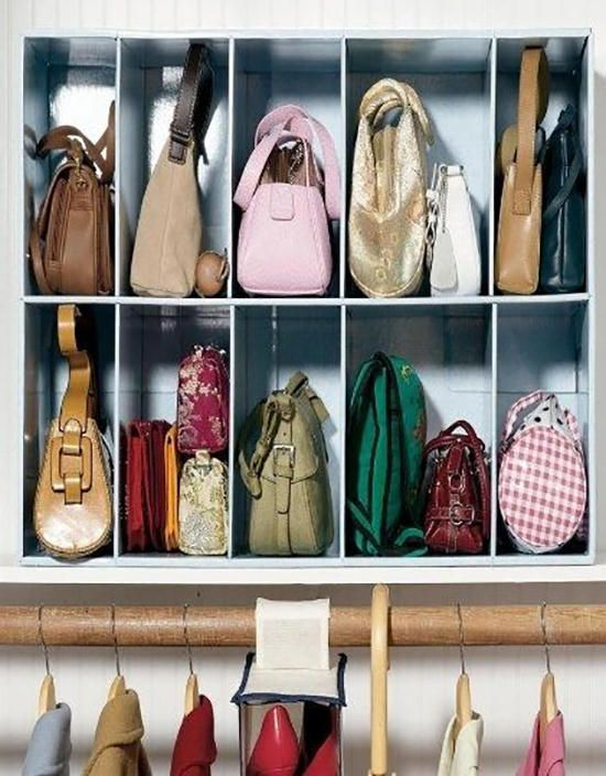 Borse ordinate arredamento d 39 interni pinterest borse - Scatole scarpe ikea ...