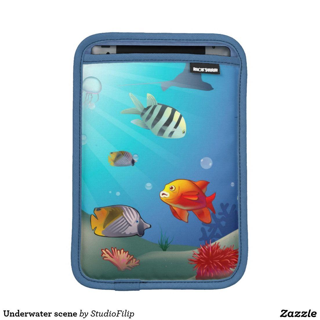 Underwater scene iPad mini sleeves