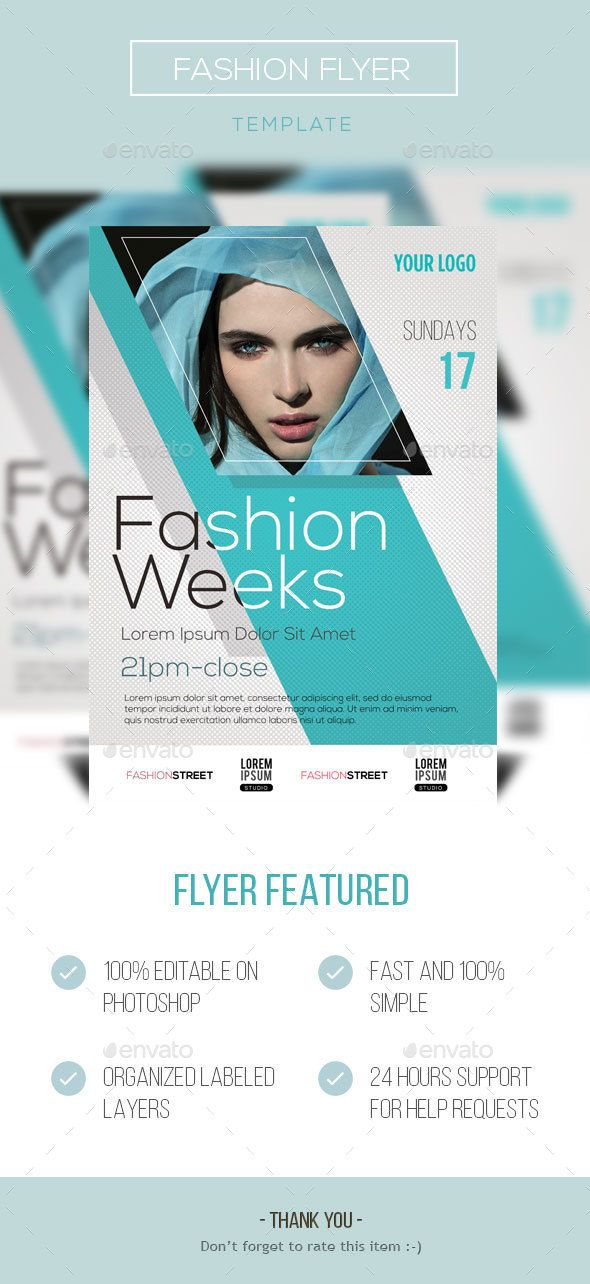 Fashion Flyer Design Template PSD. Download here: http ...