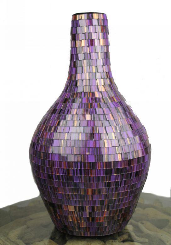 Extra Large Handmade Purple Mosaic Vase The Purple Pinterest