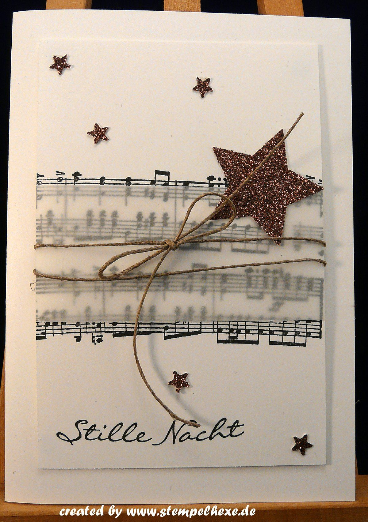 Weihnachtskarte stampin up stille Nacht noten #christmascards