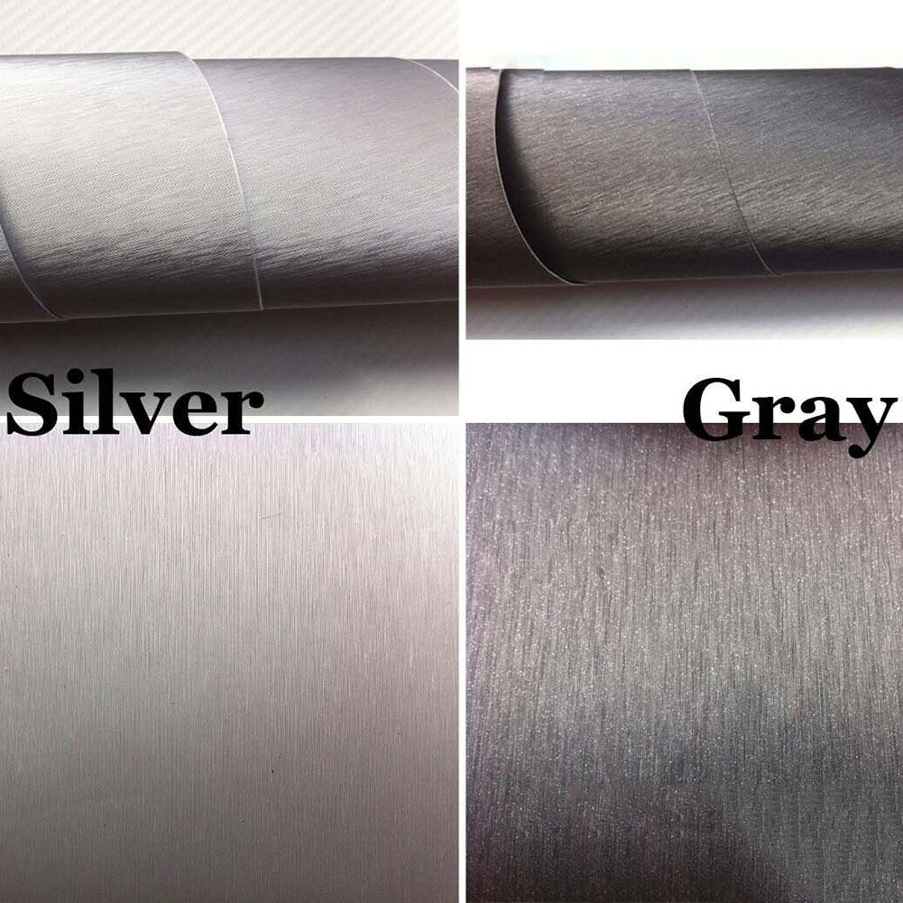 152cm 12 24 X 60 Brushed Aluminum Vinyl Film Metallic Wrap Sticker Decal Bubble Free Air Release Brushed Aluminum Vinyl Metal