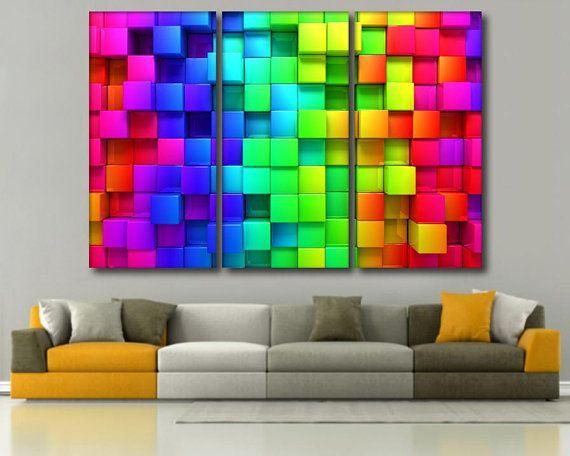 Multicolor Bright Wall Decor 3d Effect Wall Decor 3d Wall Art Etsy 3d Wall Art Etsy Wall Art 3d Wall Decor
