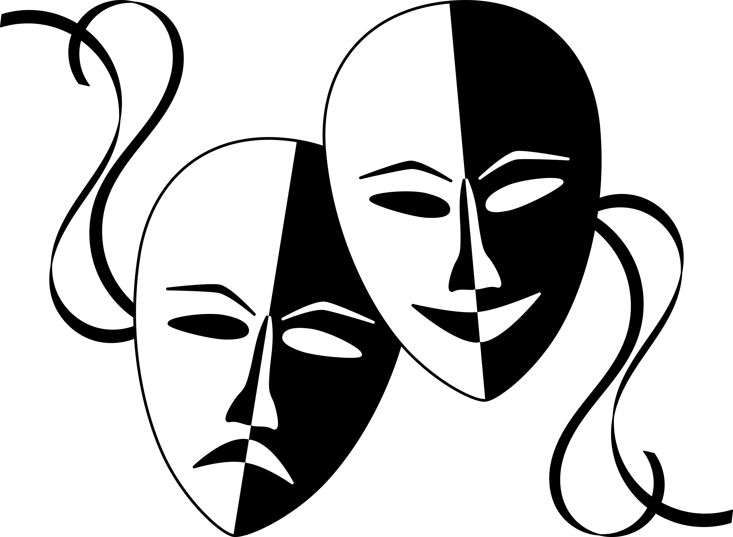 Wasat Theatre Masks Png 2 400 1 760 Pixeles Imagenes De Teatro Arte Dramatico Mascaras Teatro