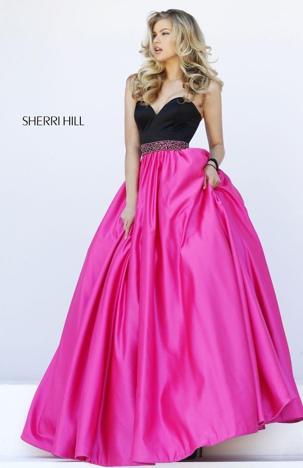 32324 Color: black/fuchsia | Sherri Hill Fashion Photography ...
