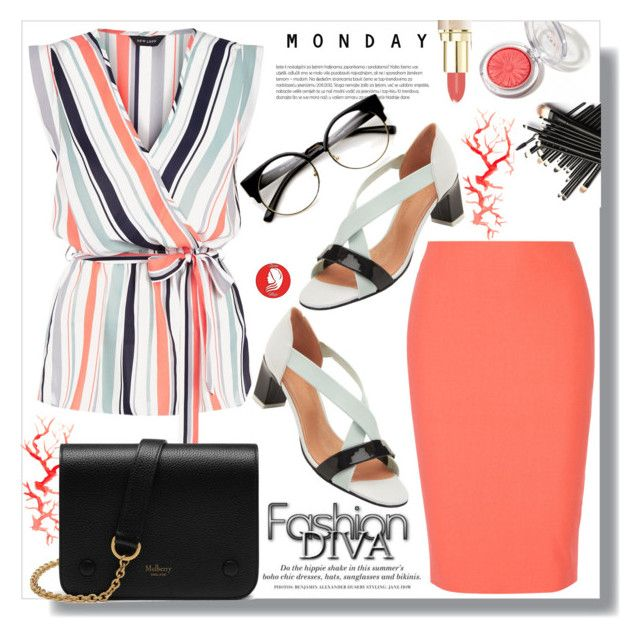 """""""Monday Business"""" by queenvirgo on Polyvore featuring New Look, Robert Clergerie, Mulberry, Elizabeth and James and H&M"""