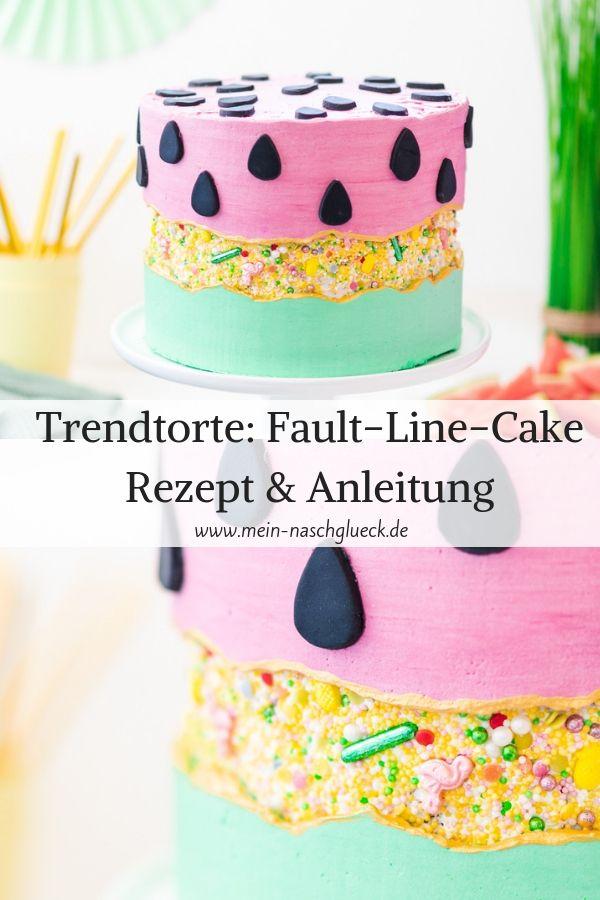 Der neue Tortentrend Sprinkle Fault Line Cake Rezept