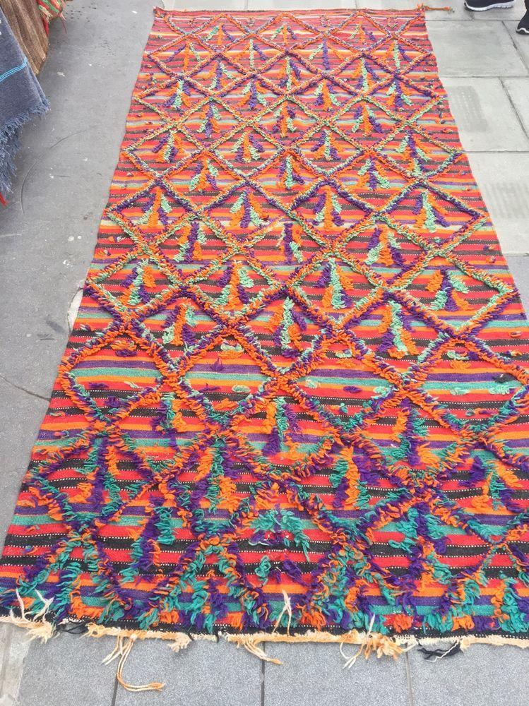 Stunning Moroccan Berber Rug Beni Ourain Azilal Tribal Boucherouite Rugs Art In Home Furniture Diy Carpets Ebay