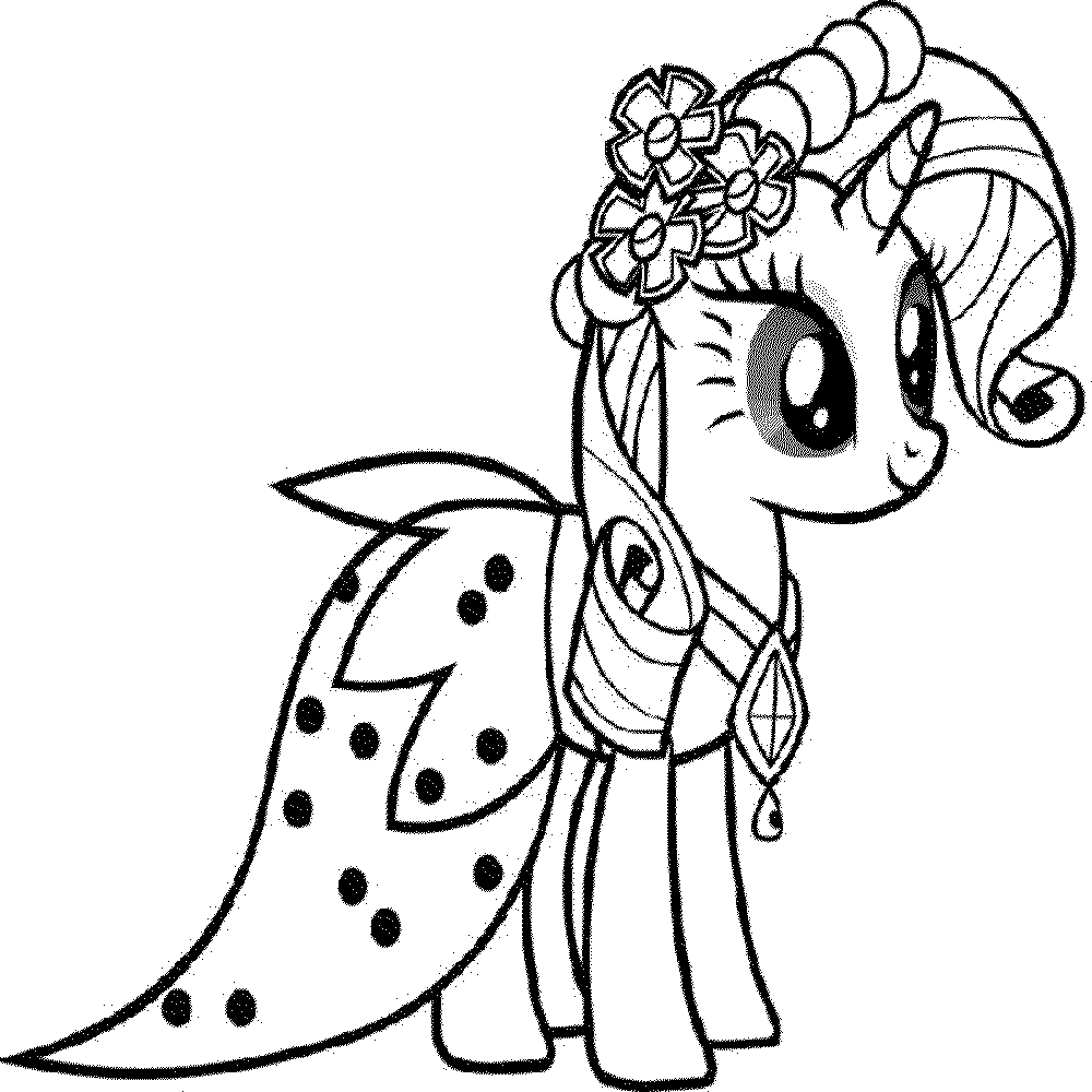 My little pony coloring pages rarity in dress - My Little Pony Friendship Is Magic Coloring Pages To Print