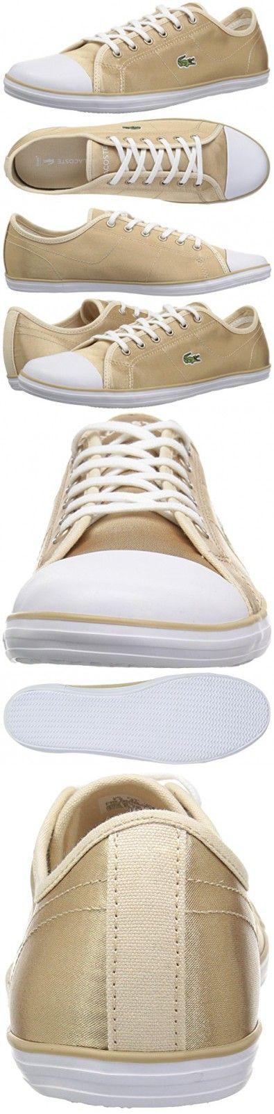 hot sale online 36621 48bae Lacoste Women's Ziane 118 2 Caw Sneaker, Gold/White, 5.5 M ...