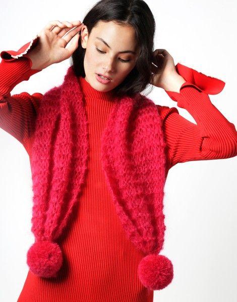 Te Amo Scarf | Knit it woolandthegang.com