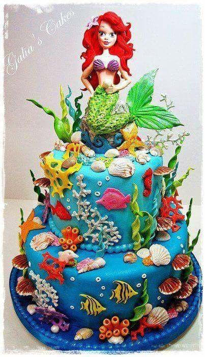 Amato Torta. Ariel la sirenita | Ideas fiesta sirenita. Johari  TJ64