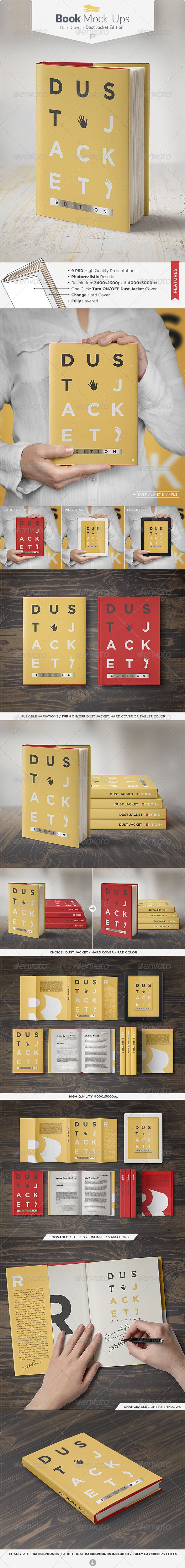 Book Mock-Up / Dust Jacket Edition - Books Print