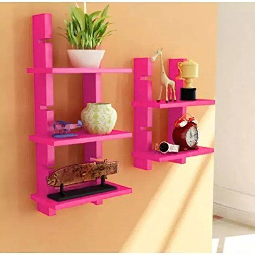 Onlineshoppee Escalera Wall Shelf 2 Pcs Pink You Can Find Out