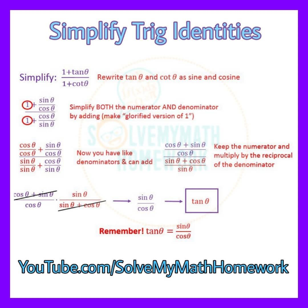 Trig Identities Still Coming In Remember Those