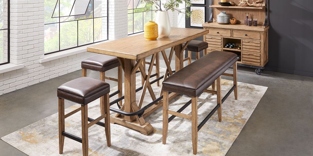 Eric Church Highway To Home Tap Room Blonde 5 Pc Bar Height Dining