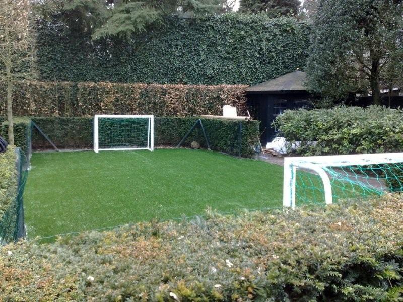 kunstgras voetbalveld in tuin - Google zoeken