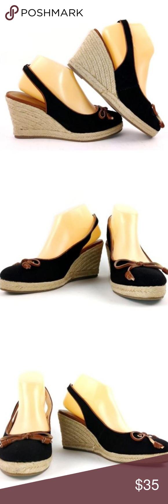 48c9836cb1c Bass Kim Espadrille Wedge Sandals Size 9.5 Black Bass Womens Kim ...