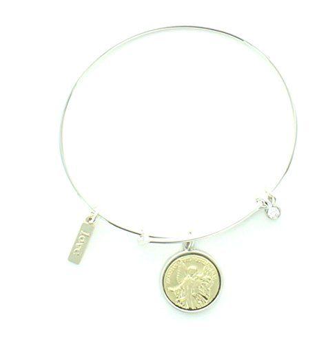 """Guardian Angel Silvertone Charm Bracelet. Love. 3/4"""" dia ... https://www.amazon.com/dp/B01KALUDX2/ref=cm_sw_r_pi_dp_x_kqHgybG16S60F"""