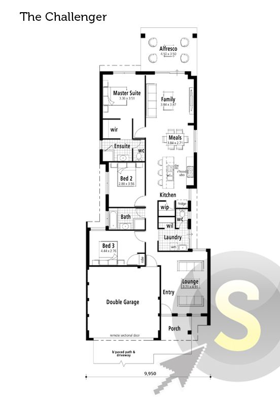 Smart home floorplans on pinterest master suite for 10m frontage home designs brisbane
