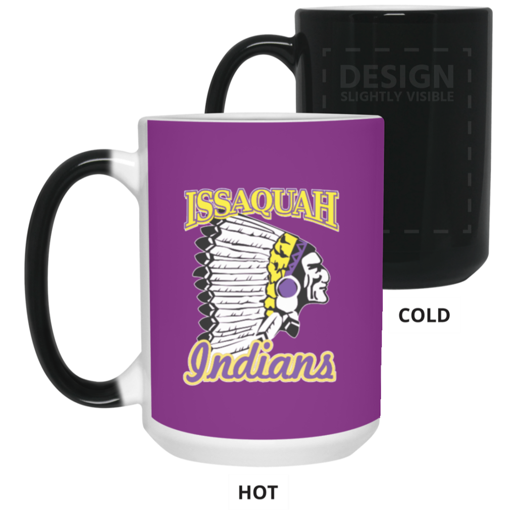 Issaquah Indians 15 Oz Color Changing Mug Mugs Mug Decorating Issaquah