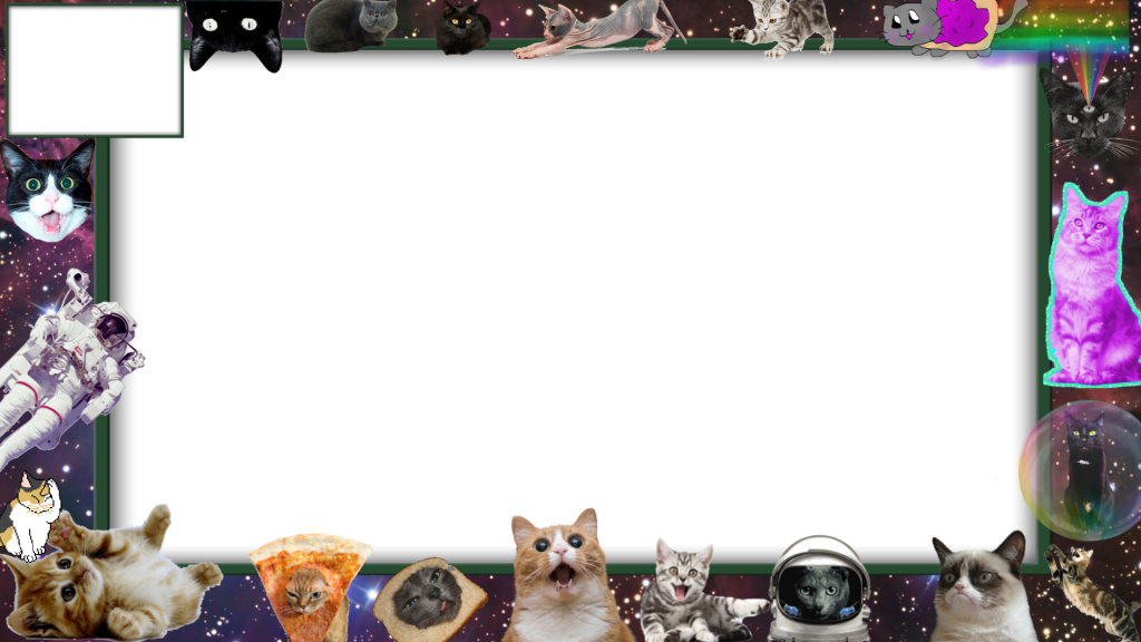 Twitch Cat Overlay Space Cats Overlays, Space cat