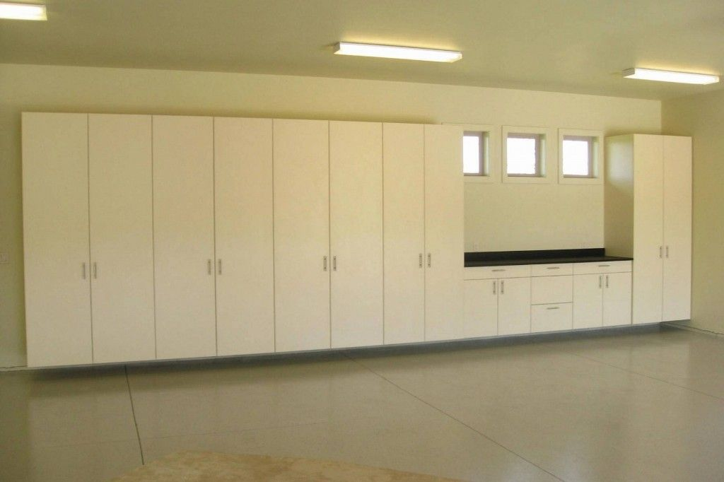 Vanilla Color Garage Cabinets Designs Ideas | Garage Storage ...