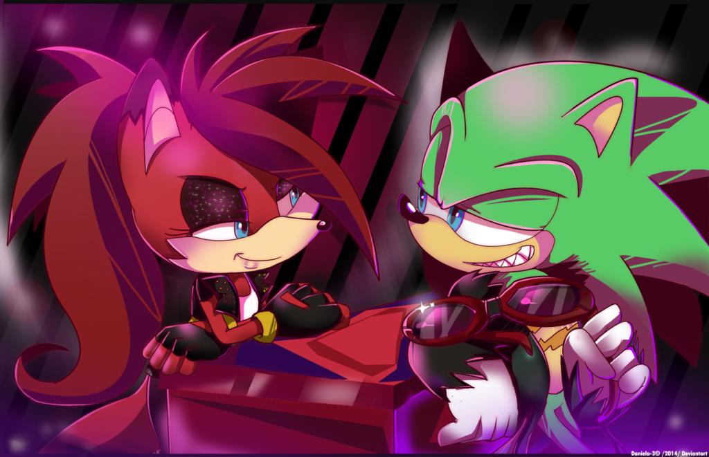 Scourge and Fiona (With images) Sonic fan art, Sonic and