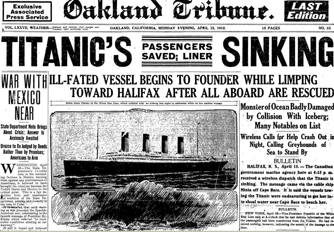 The Giant Of The Seas Crippled By An Iceberg