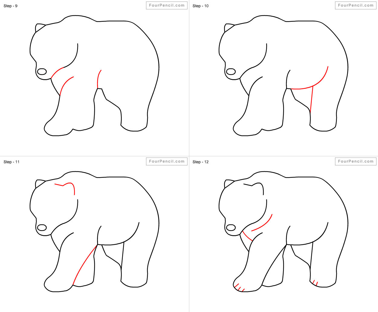 Uncategorized How To Draw A Bear For Kids how to draw bear for kids slide 3 click enlarge enlarge