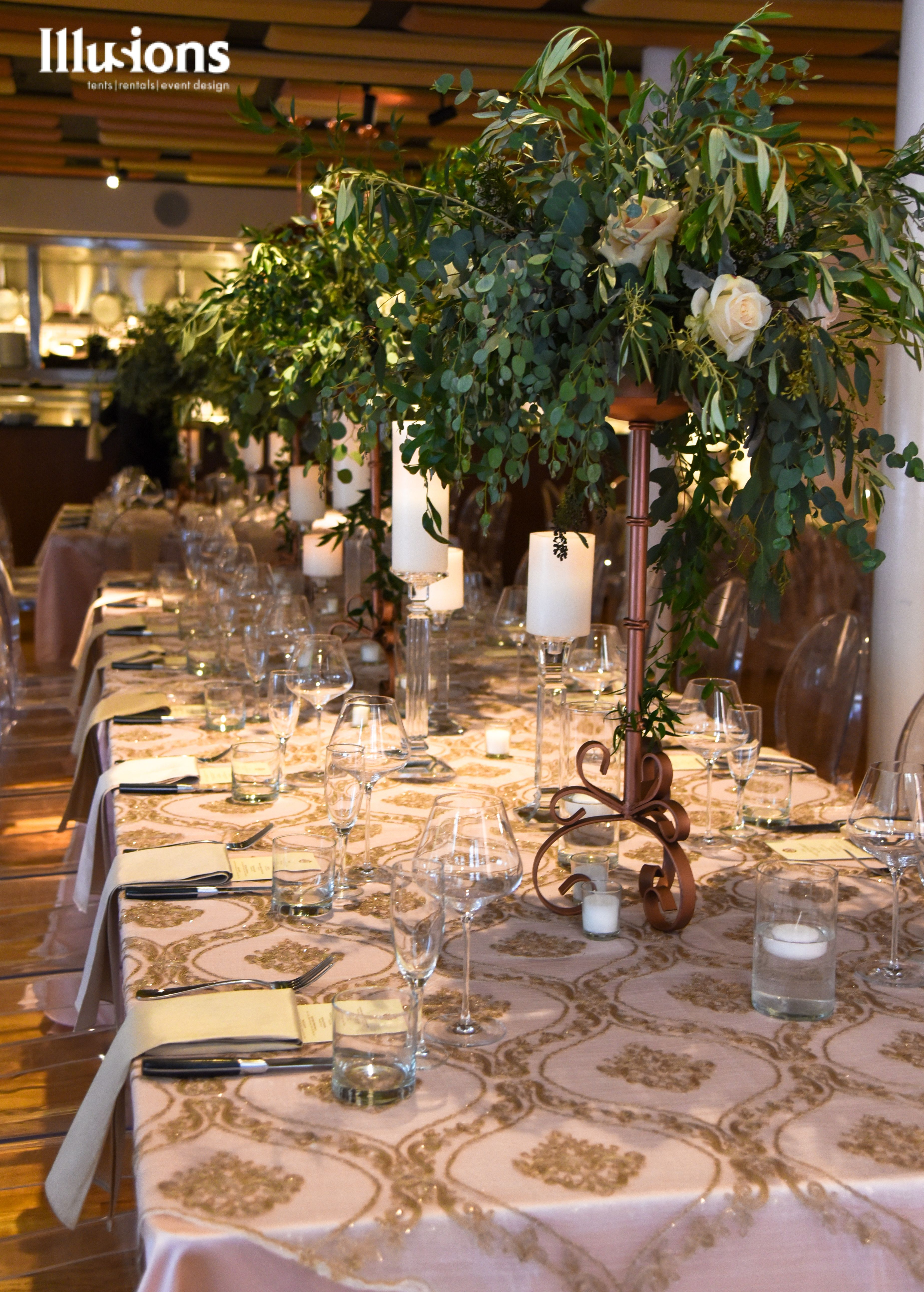Pin By Illusions Event Rentals On Weddings With Images Wedding Rentals Wedding Display Event Design