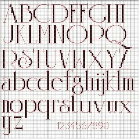 Free Cross Stitch Alphabet For Personalized Christmas