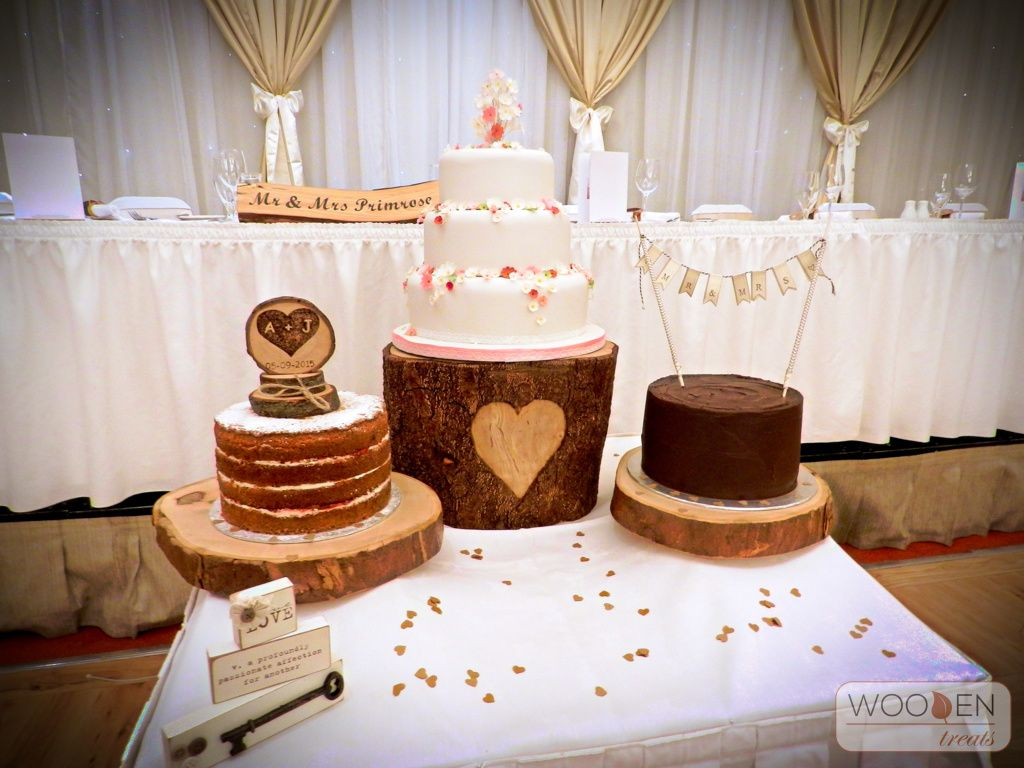 Rustic Cake Table And Other Wedding Reception Decor Available To Hire From Wooden Treats