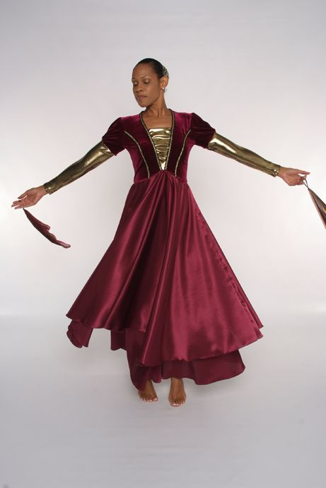 New Wine Dress Velour Top Vest With Crepe Satin Skirt With Black