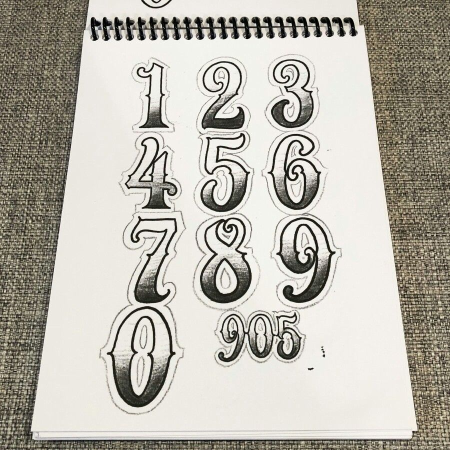 Design image by Kayden Verrego Tattoo lettering fonts