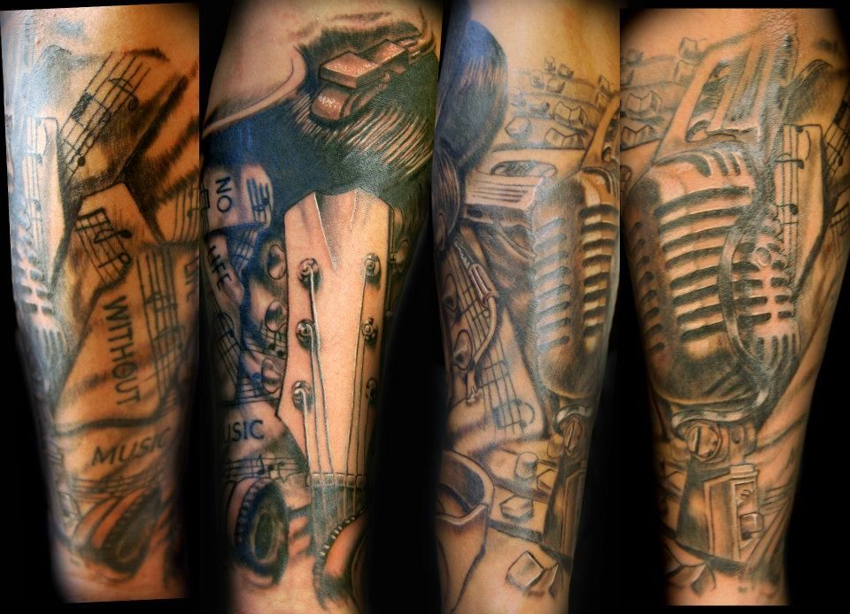 Half Sleeve music Music tattoo sleeves, Music tattoos