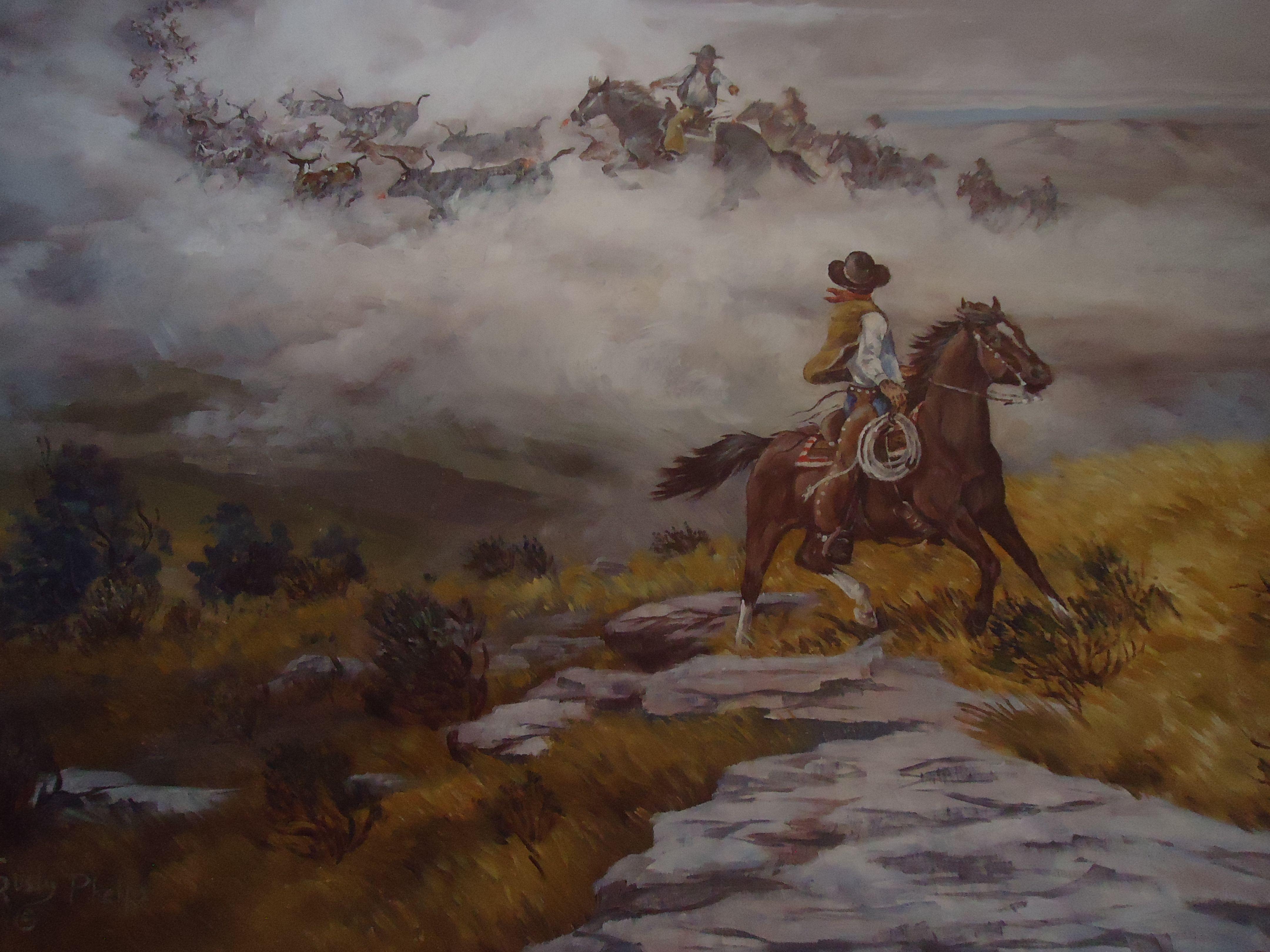 Ghost Riders in the Sky | Ghost rider, Western art, Cowboy art