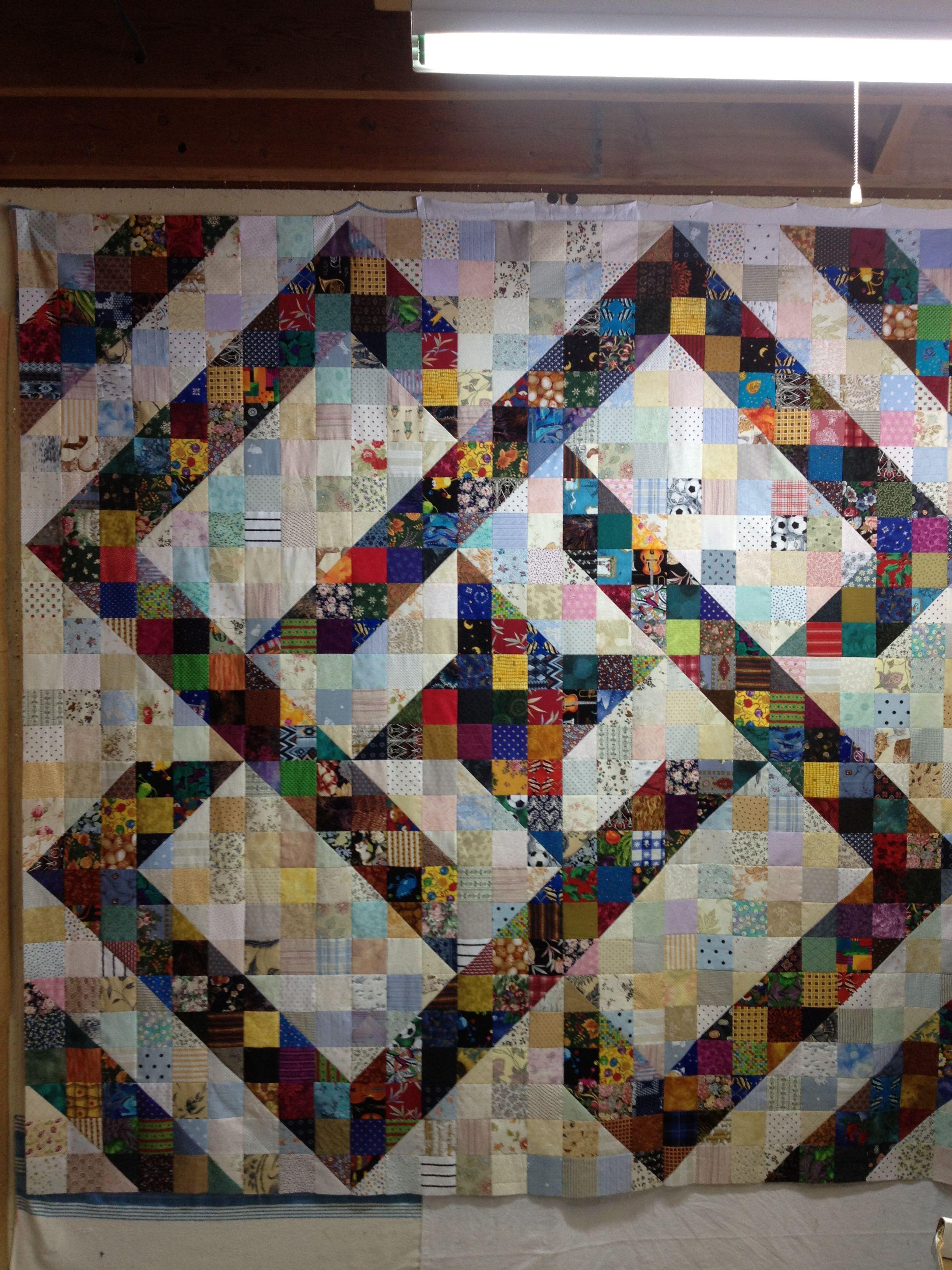 A Split Nine Patch Pattern Quilting Quilts Quilt