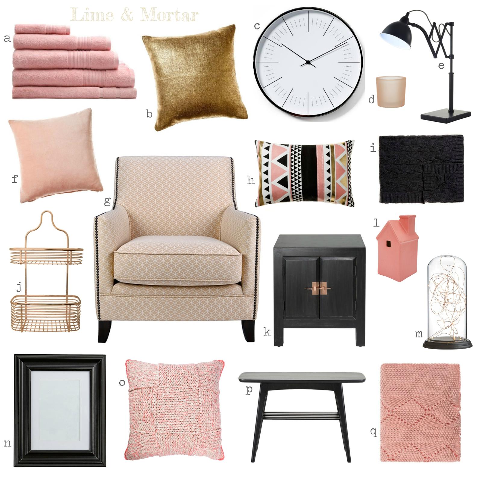 Lime & Mortar Colour Pop Pink Gold & Black