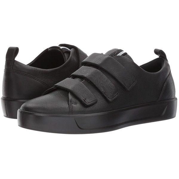 ECCO Soft 8 Strap Sneaker (Black/Black