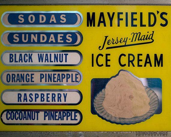 Kitchen Print, Ice Cream Print, Antique Signage, Kitchen Wall Art ...
