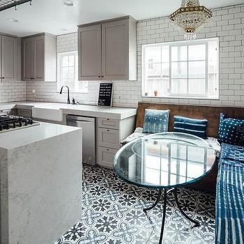 Best Caesarstone Noble Grey Quartz Waterfall Countertop With 400 x 300