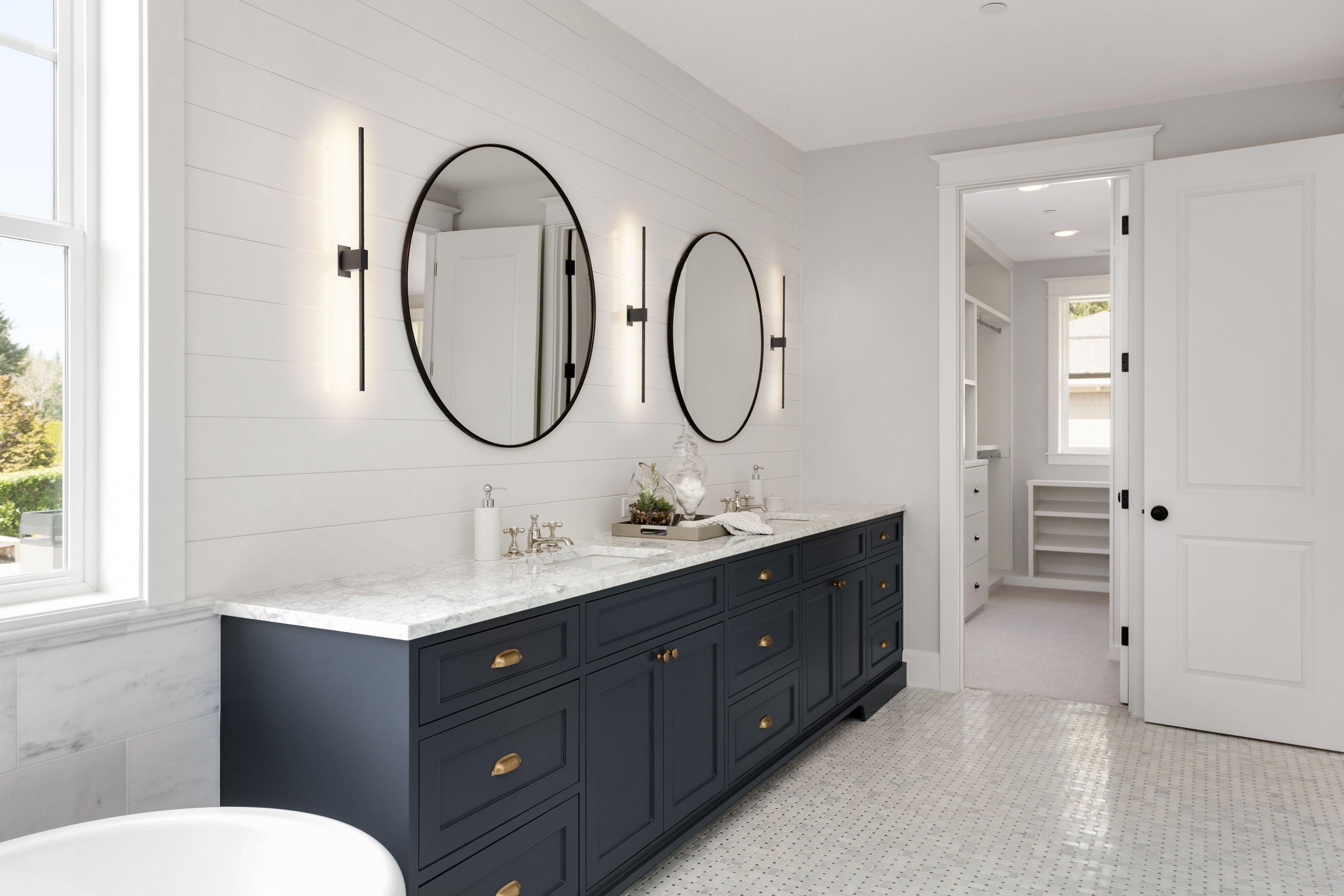 Dailyproductpick The Z Bar Wall Sconce By Koncept Is A Sleek And Slim Rotatable Led Bar Utilized To H Blue Bathroom Vanity Wood Floor Bathroom Bathroom Mirror