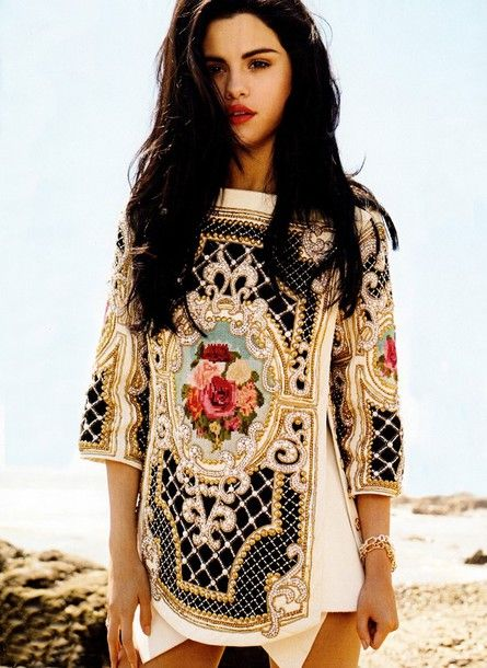 589306f147 selena gomez in designer dress | selena gomez balmain celebrities clothes  bloggers blouse lovely dress .