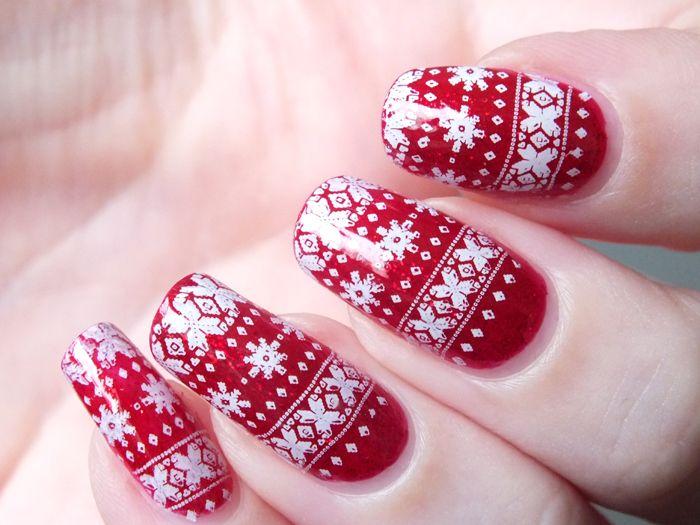 Mes ongles préparent déjà Noël!