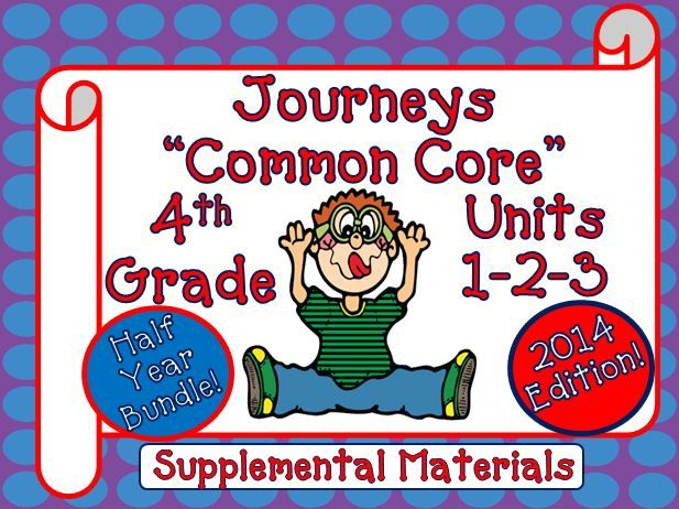 Journeys Common Core 4th Grade This Bundle Contains A border=